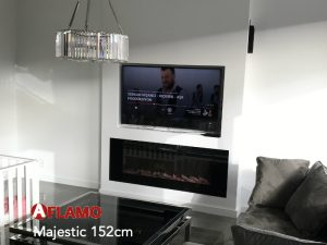 electric modern fire built-in